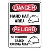 Accuform Signs SBMPPA027VS Danger Sign, 14 x 10In, R and BK/WHT, SURF