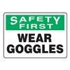 Accuform Signs MPPE915VS Caution Sign, 10 x 14In, BK and GRN/WHT