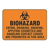 Accuform Signs MBHZ509VA Biohazard Sign, 7 x 10In, BK/ORN, AL, SURF