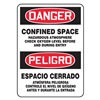Accuform Signs SBMCSP078VS Danger Sign, 14 x 10In, R and BK/WHT, Text