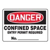 Accuform Signs MCSP124VS Danger Sign, 7 x 10In, R and BK/WHT, ENG