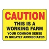 Accuform Signs MEQM697VA Caution Sign, 10 x 14In, R and BK/YEL, AL