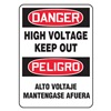 Accuform Signs SBMELC128JVS Danger Sign, 14 x 10In, R and BK/WHT, Text