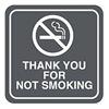 Intersign 62186-18 TAN No Smoking Sign, 5-1/2 x 5-1/2In, WHT/Tan