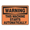 Accuform Signs MEQM340VS Warning Sign, 10 x 14In, BK/ORN, ENG, Text
