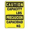Accuform Signs SBMCAP623VS Caution Sign, 14 x 10In, BK/YEL, Bilingual