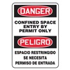 Accuform Signs SBMCSP018VA Danger Sign, 14 x 10In, R and BK/WHT, AL