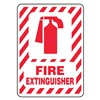 Accuform Signs MFXG516VS Fire Extinguisher Sign, 14 x 10In, R/WHT