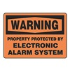 Accuform Signs MASE303VA Warning Sign, 10 x 14In, BK/ORN, AL, ENG