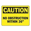 Accuform Signs MVHR675VP Caution Sign, 10 x 14In, BK/YEL, PLSTC, ENG