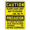 Accuform Signs SBMCAP624VS Caution Sign, 14 x 10In, BK/YEL, Bilingual