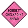 Usa-Sign C/36-SBFP-3FH-HD-SOBRIETY CHECKPOINT Road Sign, Sobriety Chckpnt Ahd, 36 x 36In