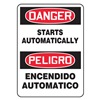 Accuform Signs SBMEQM048VA Danger Sign, 14 x 10In, R and BK/WHT, AL