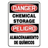 Accuform Signs SBMCHL192VP Danger Sign, 10 x 14In, R and BK/WHT, PLSTC