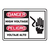 Accuform Signs SBMELC077VA Danger Sign, 10 x 14In, R and BK/WHT, AL, HV