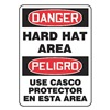 Accuform Signs SBMPPA005KVS Danger Sign, 14 x 10In, R and BK/WHT, Text