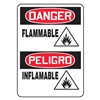 Accuform Signs SBMCHG046VA Danger Sign, 14 x 10In, R and BK/WHT, AL