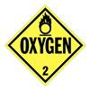 Stranco Inc DOTP-0035-V10 Vehicle Placard, Oxygen w Pictogram, PK10
