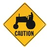 Voss V23 Traffic Sign, Machinery, 18 x 18In