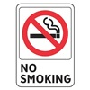 Electromark S1476-SC5 No Smoking Sign, 7 x 5In, R and BK/WHT, ENG