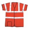 Occunomix LUX HSCOOL3 OXL High Visibility Vest, Class 3, XL, Orange