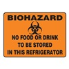 Accuform Signs MBHZ506VP Biohazard Sign, 7 x 10In, BK/ORN, PLSTC