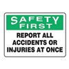 Accuform Signs MFSD932VP Caution Sign, 10 x 14In, GRN and BK/WHT