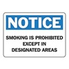 Accuform Signs MSMK827VA No Smoking Sign, 7 x 10In, BL and BK/WHT