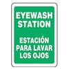 Accuform Signs SBMFSD988VS Eye Wash Sign, 14 x 10In, WHT/GRN, Text