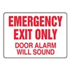 Accuform Signs MEXT591VS Fire Exit with Alarm Sign, 7 x 10In, R/WHT