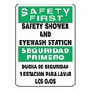Accuform Signs SBMFSD910VP Safety Shower Sign, 14 x 10In, PLSTC, Text