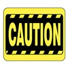 Glaro S18-Y-4 BARRIER POST SIGN CAUTION 11 IN HX14