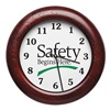 Sales & Marketing Associates 551B-A Wall Clock, 12 In, Safety Begins Here