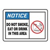 Accuform Signs MSMK824VP Sign, 10x14, Do Not Smoke