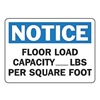 Accuform Signs MCAP804VP Notice Sign, 10 x 14In, BL and BK/WHT, ENG