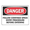 Accuform Signs MCSP012VP Danger Sign, 7 x 10In, R and BK/WHT, PLSTC