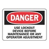 Accuform Signs MLKT005VP Danger Security Sign, 7 x 10In, PLSTC, ENG