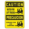 Accuform Signs SBMVHR600VA Caution Sign, 14 x 10In, BK/YEL, AL, SURF