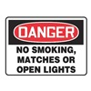 Accuform Signs MSMK136VS Danger No Smoking Sign, 10 x 14In, ENG