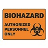 Accuform Signs MBHZ504VA Biohazard Sign, 10 x 14In, BK/ORN, AL, SURF