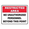 Accuform Signs MADM917VS Admittance Sign, 7 x 10In, R and BK/WHT