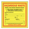 Accuform Signs MHZW20EVP Hazardous Waste Label, 6 In. H, PK 25