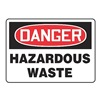 Accuform Signs MCHL295VS Danger Sign, 10 x 14In, R and BK/WHT, HAZ W