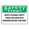 Accuform Signs MPPA904VS Caution Sign, 10 x 14In, BK and GRN/WHT