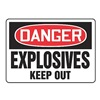 Accuform Signs MCHL042VS Danger Sign, 10 x 14In, R and BK/WHT, ENG