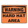 Accuform Signs MPPE318VA Warning Sign, 7 x 10In, BK/ORN, AL, ENG, Text