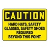 Accuform Signs MPPE722VA Caution Sign, 10 x 14In, BK/YEL, AL, ENG