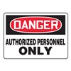 Accuform Signs MADM130VA Danger Sign, 7 x 10In, R and BK/WHT, AL, ENG