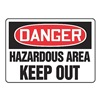 Accuform Signs MADM044VS Danger Sign, 10 x 14In, R and BK/WHT, ENG