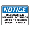 Accuform Signs MADC824VA Notice Security Sign, 10 x 14In, AL, ENG